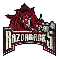 Arkansas Razorbacks Logo Embroidered Iron Patches