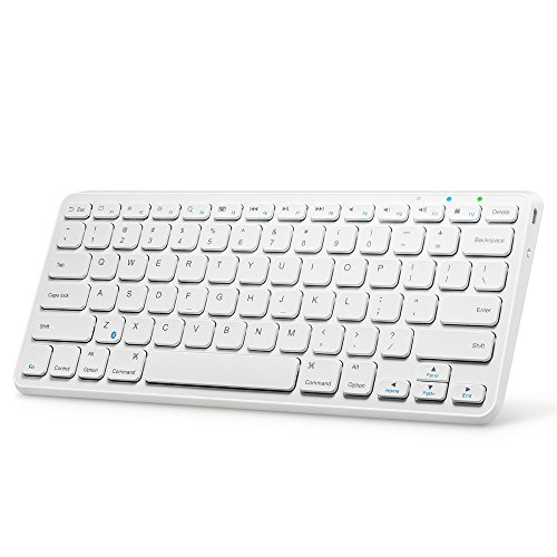 Anker® ウルトラコンパクト Bluetooth ワイヤレスキーボード iOS / Android / Windows / Mac対応 バッテリー寿命6ヶ月 ホワイト
