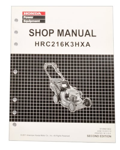 Honda HRC216 HXA K3 Commercial Lawn Mower Service Repair Shop Manual