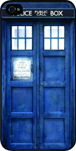 TARDIS Blue Police Call Box Black Hard Snap on Case Cover for Apple Iphone 5, Iphone 5 Universal: Verizon - Sprint - At&t - Great Affordable Gift!