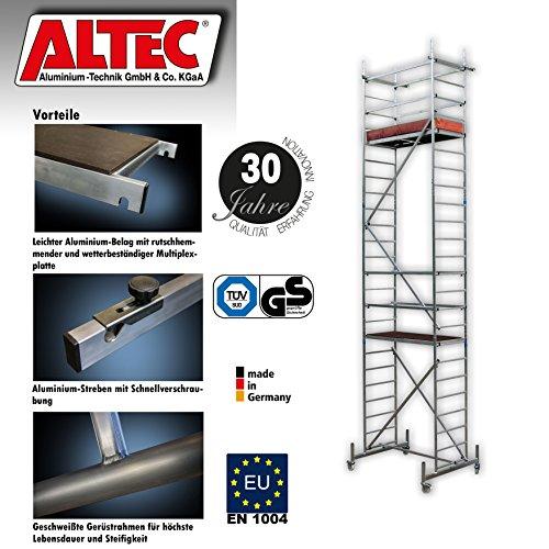 ALTEC-Rollfix-700-Arbeitshhe-7-m-neu-inkl-Rollen-Fahrtraverse-und-Wandanker-TV-geprft-Made-in-Germany-Alu-Gerst-Aluminium-Rollgerst-Fahrgerst-Baugerst-Zimmergerst-Arbeitsplattform-Arbeitsbhne