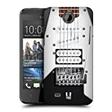 Head Case Designs Black Electric Guitar Protective Snap-on Hard Back Case Cover for HTC Desire 300