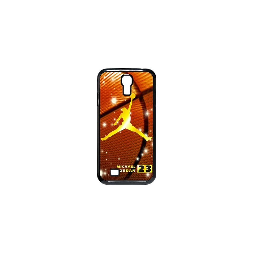 Cool NBA Chicago Bulls Gold Michael Jordan Dunk Logo with Basketball Background Samsung Galaxy S4 i9500 Case Best Rubber Protection Cover for Samsung