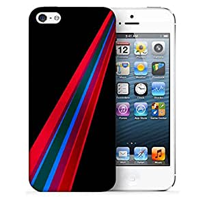 Snoogg Red Path Printed Protective Phone Back Case Cover For Apple Iphone 5 / 5S