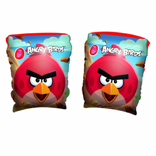 Bestway Toys Domestic Angry Birds Arm Bands, 9 x 6""