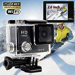 CROCON S5 Wifi Action Camera 1080P full HD Camera DVR 30M Waterproof 2.0Inch TFT Helmet Camera Sport DV