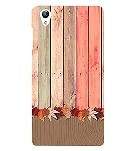 Wooden Pattern 3D Hard Polycarbonate Designer Back Case Cover for vivo Y51 :: VivoY51L