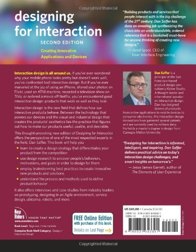 Designing for Interaction:Creating Innovative Applications and Devices (Voices That Matter)