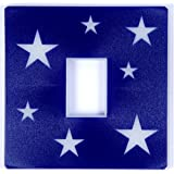 Glow in the Dark Blue Stars Light Switch Cover