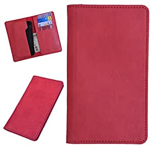 DSR Pu Leather case cover for Lava Iris 400Q (red)