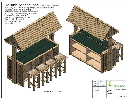 how to build outdoor bamboo tiki bar