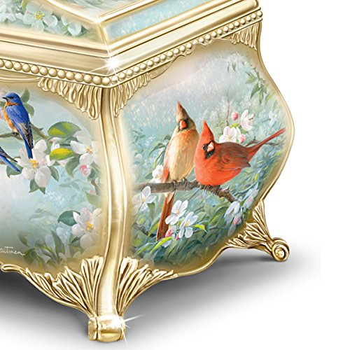 Joe Hautman Songbird Artwork Porcelain Music Box with 22K Gold Sentiment by The Bradford Exchange 3