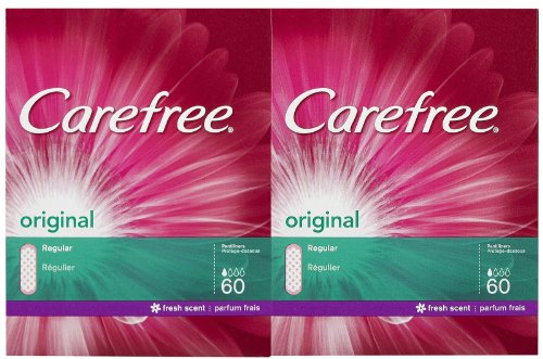 Carefree Original Pantiliners-Scented-60 ct, 2 pk