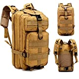 Jipemtra Tactical First Aid Bag MOLLE EMT IFAK Pouch Trauma First Aid Responder Medical Backpack Utility Bag Military Tactical Backpack Emergency Small Army Rucksack (Khaki Backpack 30L) (Color: Khaki Backpack 30L)