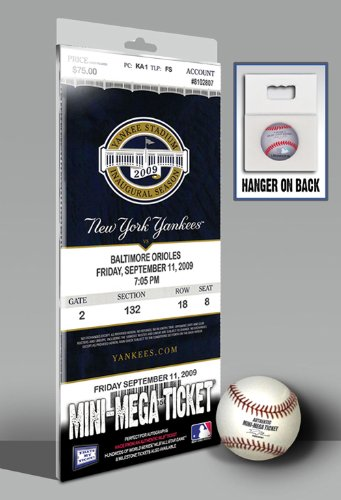 Derek Jeter Breaks Yankees Hit Record Mini-Mega Ticket