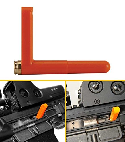 Ultimate Arms Gear .223 5.56 Caliber Rifle Empty Chamber Ejectable Safety Flag Load Indicator Device Polymer & Brass Bottom Orange Dummy Ammunition Ammo Shell Round with Lanyard String Loop Hole to Attach AR15 AR-15 M4 M-4 M16 M-16 A1 A2 (Chamber Plug compare prices)