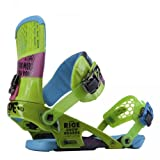 Ride Rodeo Snowboard Bindings, Green - Medium