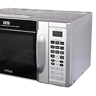 IFB 17PG3S 17-Litre Grill Microwave Oven (Metallic Silver)