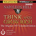 Think and Grow Rich (1937 Edition): The Original 1937 Unedited Edition (       UNABRIDGED) by Napoleon Hill Narrated by Fred Stella