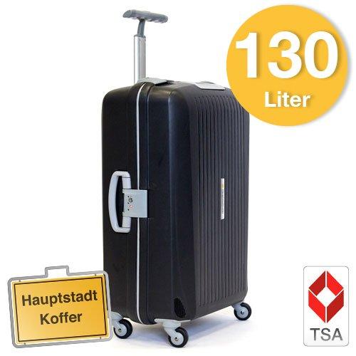 Hartschalen Koffer Schwarz/Grau Matt Hochglanz
