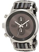 Vestal Men's METCA01 Metronome Silver With Black Acetate Chronograph Watch from Vestal