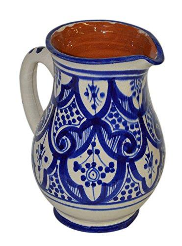 Sangria Pitcher Moroccan Ceramic Beverage Dispenser Jar Water Juice Cooler New