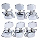 6pcs 3L3R Semiclosed Guitar Tuning Pegs Tuners Machine Heads
