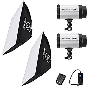 Neewer 600W Studio Flash Strobe Light Lighting Kit