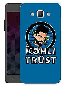 "Humor Gang In Kohli We Trust - Blue Printed Designer Mobile Back Cover For ""Samsung Galaxy A3"" (3D, Matte, Premium Quality Snap On Case)"