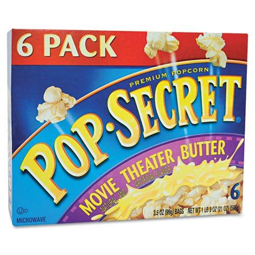 Pop Secret - Microwave Popcorn, Movie Theater Butter, 3.5Oz Bags, 6/Box 57706 (Dmi Bx