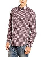 Timberland Camisa Hombre Ls Poplin Check Shir (Azul / Rojo)