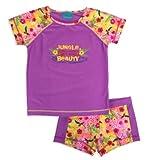 Jump'N Splash Girls Pink Jungle Beauty Rash Guard Set w/ FREE Goggles