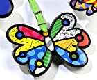 Romero Britto Butterfly Luggage Tag Travel Bags ID Name Bag Backpack Custom New