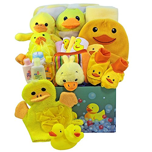 Art of Appreciation Gift Baskets Splish Splash Baby Bath Time Fun Care Package Gift Box, Neutral Boy or Girl