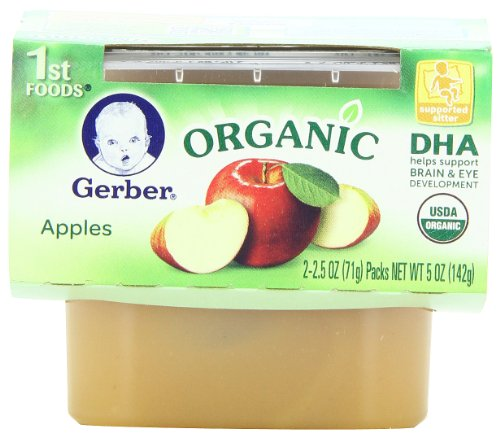 Gerber 1St Foods Organic Applesauce, 2-Count, 5-Ounce Units (Pack Of 8) front-263042