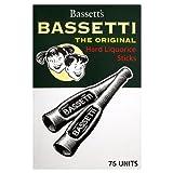Bassetti Hard Liquorice Sticks (box of 75)