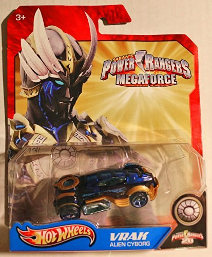 Hot Wheels Power Rangers Megaforce 1:50 Die Cast Car Vrak Alien Cyborg