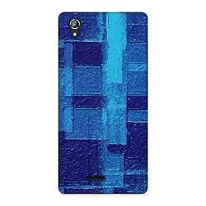 Gorgeous Premier Blue Pattern Back Case Cover for Lava Iris 800
