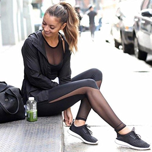 Skinny Pants,Morecome Women Fitness Leggings High Waist Mesh Patchwork Leggings (S)