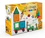 Playmags childrens educational Construction Toys Magnetic Building Tiles 100 pc set