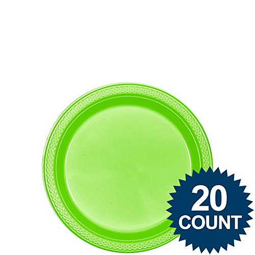 """7"""" plstc plate 20 ct-kiwi"""