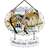 Metro Shop Joan Baker 'Medicine Horse' Glass Art Panel