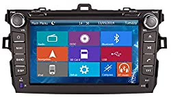 See Crusade Car DVD Player for Toyota Corolla 2006-2011 Support 3g,1080p,iphone 6s/5s,external Mic,usb/sd/gps/fm/am Radio 8 Inch Hd Touch Screen Stereo Navigation System+ Reverse Car Rear Camara + Free Map Details