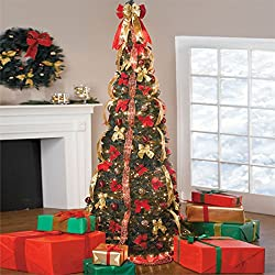 Brylanehome 71/2' Deluxe Pop-Up Tree (Red Gold)