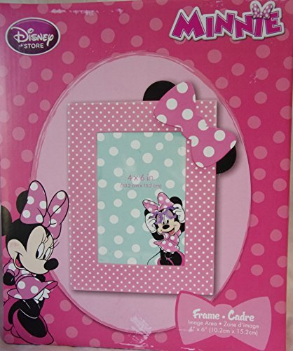 Disney Store / Minnie Mouse Pink Polka DOT Photo Picture Frame for 4 X 6 Photos - 1
