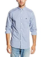 POLO CLUB Camisa Hombre Academy Sport Slim (Azul)