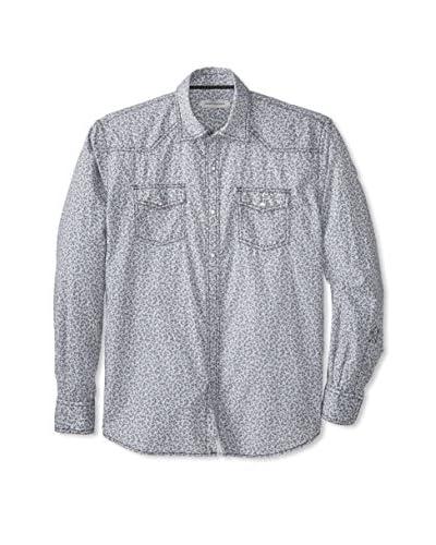 James Campbell Men's Long Sleeve Nebraska Print Shirt