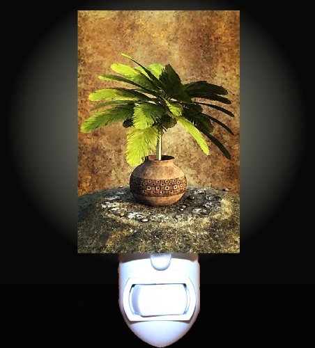 Potted Palm Tree Decorative Night Light front-1015939