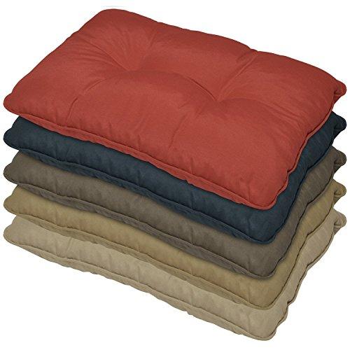 Coussin lounge - Rouge - 70x40x12 cm - Pour Dossier - Pour extérieur - Imperméable - Idéal pour jardin, balcon