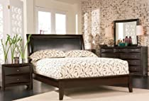 Big Sale 4pc Queen Size Platform Bedroom Set in Cappuccino Finish